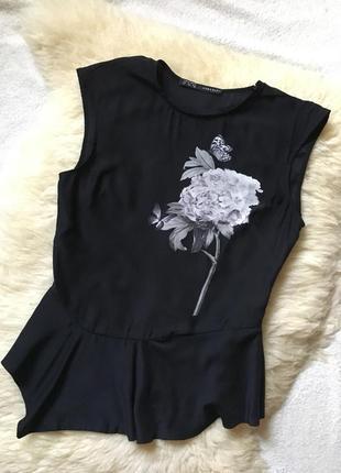 Блузка с баской zara