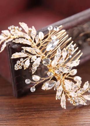 Заколки для невесты, заколки под фату для свадебной прически
