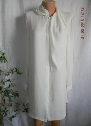 Белое оригинальное платье-рубашка reiss