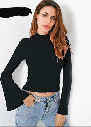 Кофта свитер теплая зимняя рукава клеш