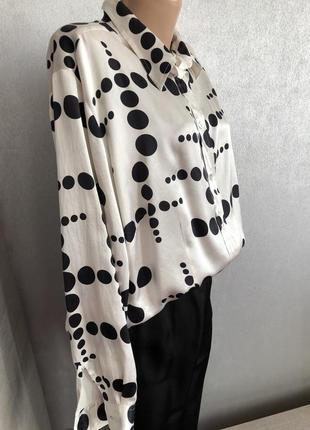 Рубашка блуза шёлк