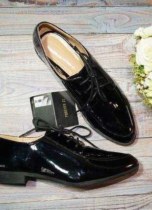 🌿бесплатная доставка🌿38🌿forever 21. фирменные туфли на шнуровке, оксфорды