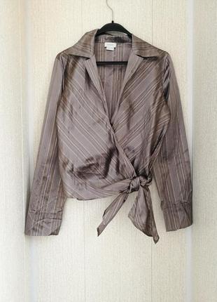 Шикарная красивая нарядная шелковая блуза на запах  caractere италия