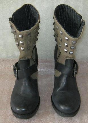 Ботинки кожаные replay размер 40 чобітки полусапожки