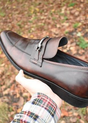 Steve madden оригинал мужские туфли лоферы коричневые кожаные размер 47