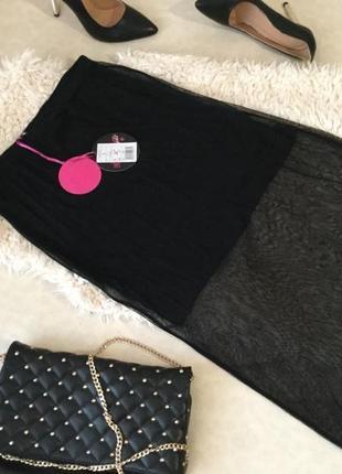 Нереально - модная и стильная юбка миди из фатина от pink woman на р. 38/м , цена 22€ 💋