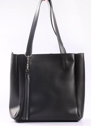 Большая сумка на плечо из экокожи, прекрасное качество