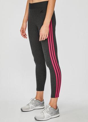 Лосины adidas, леггинсы, лосіни з розовими неоновими полосками, 18-го року