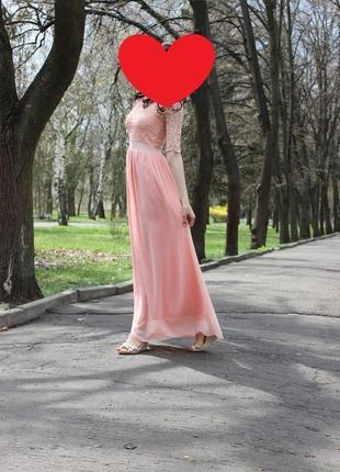 Нежное вечернее платье.  платье на выпускной. платье свидетельницы. платье для банкета.