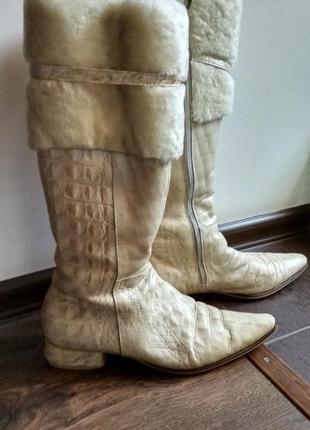 Женские кожаные сапоги fabiani