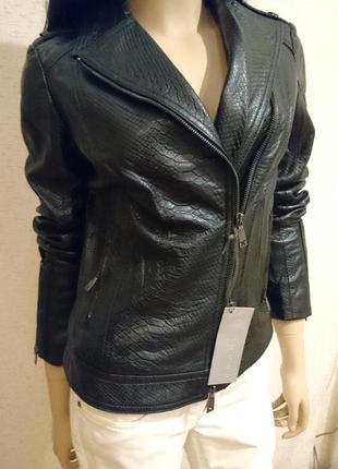 Кожаная  куртка  косуха richmond x