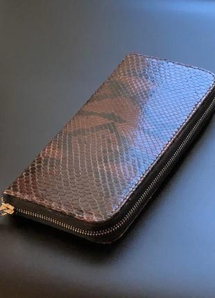 Кошелёк портмоне из кожи питона.