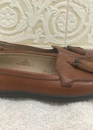 Кожаные рыжие удобные туфли footglove, 5,5 размер