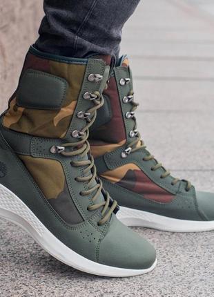 Timberland camo, мужские демисезонные/осенние ботинки тимберленд.