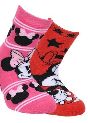 Носки махровые 2 пары minnie mouse (минни маус) hs06251