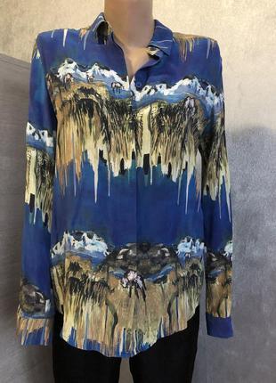Шелковая блуза рубашка