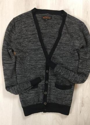 Шерстяной пуловер ben sherman джемпер легкий мужской