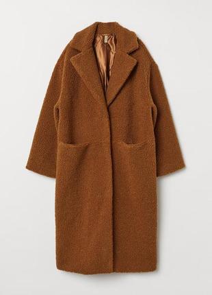 💣💥хит сезона! трендовая плюшевая оверсайз шубка пальто тедди от h&m3 фото