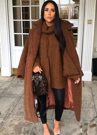 Хит сезона! крутая трендовая плюшевая оверсайз шубка пальто тедди от h&m7 фото