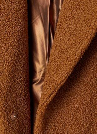 💣💥хит сезона! трендовая плюшевая оверсайз шубка пальто тедди от h&m4 фото