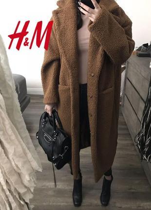 💣💥хит сезона! трендовая плюшевая оверсайз шубка пальто тедди от h&m1 фото