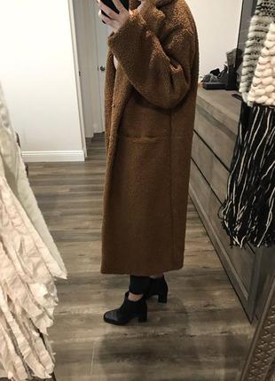 💣💥хит сезона! трендовая плюшевая оверсайз шубка пальто тедди от h&m5 фото