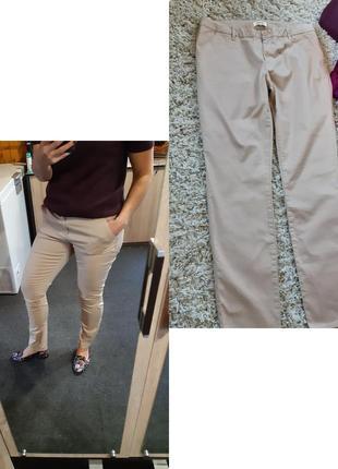Очень комфортные стрейчевые  бежевые брюки,zalando, p. l-xl