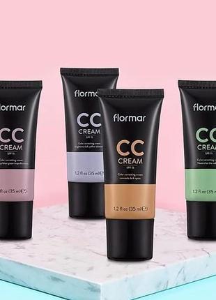 Cc-крем  flormar cc cream anti-dark circles, 35 мл юнайс