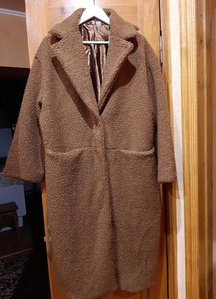 💣💥хит сезона! трендовая плюшевая оверсайз шубка пальто тедди от h&m8 фото