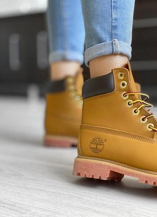 Акция! женские осенние ботинки/ сапоги/ угги timberland brown 😍 {без меха/термо/еврозима}