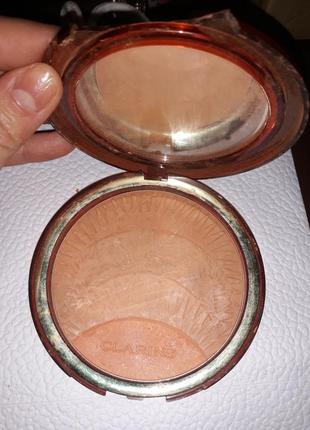 Clarins коллекционная бронзирующая пудра poudre soleil & blush