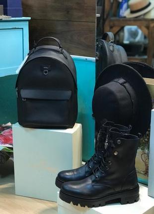 Добротный кожаный рюкзак от furla строго оригинал