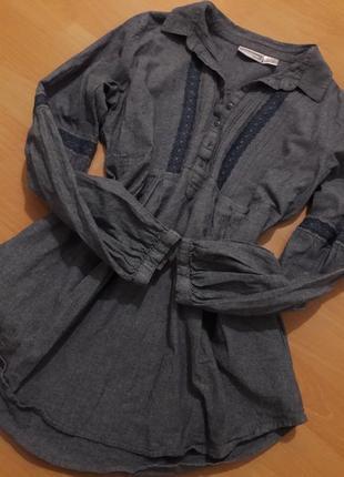 Шикарная блузка рубашка с вышивкой