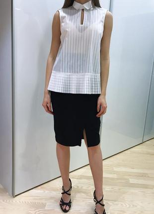 Красивая белая блуза с воротником french connection