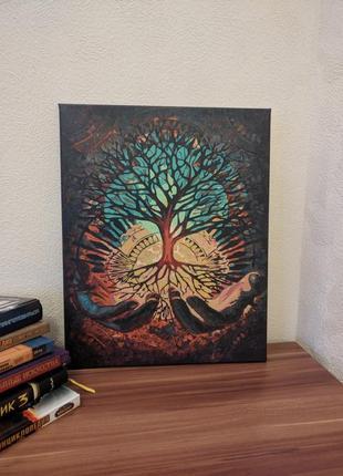 Картина древо жизни, холст, акриловые краски