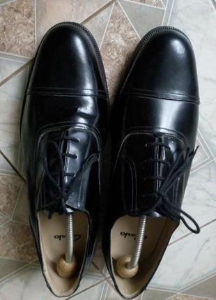 Кожаные туфли clarks большой размер