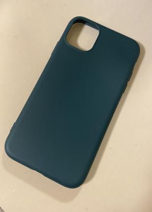 Чехол для iphone 11 pro max, midnight green