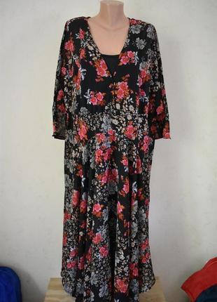 Новое шикарное платье с принтом большого размера joe browns