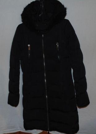 Пальто куртка пуховик натуральный пух mango mng оригинал размер s - m