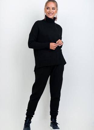 Стильный женский,мега-теплый,60%вареная шерсть,вязаный комплект:свитер и брюки