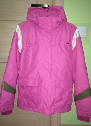 Яркая горнолыжная, мембранная, термо куртка