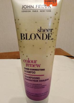 Корректирующий блондинистый цвет шампунь john frieda