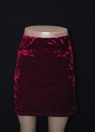 Бархатная юбка 16 размера