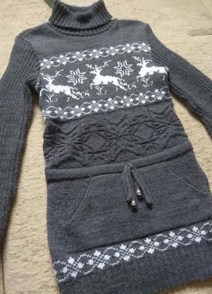 Вязанный теплый свитер