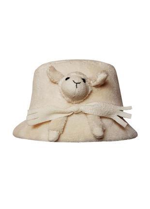 Прелестная теплая шапочка шляпка sterntaler на девочку 5-7 лет, размер 53
