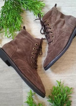 Ботинки на шнуровке натуральный замш lucky brand