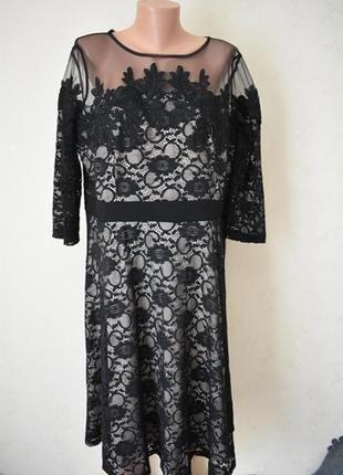 Шикарное кружевное платье большого размера little mistress