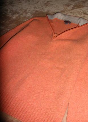 Шикарный теплый свитер джемпер slam из шерсти ламы