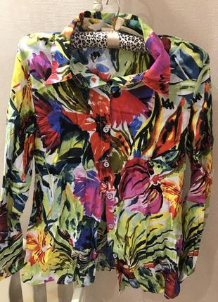Цветная котоновая рубашка