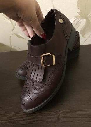 Туфли закрытые, ботинки кожаные, кожа, лоферы, 37